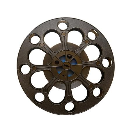 16 mm Kinofilm Rolle isoliert auf weiß