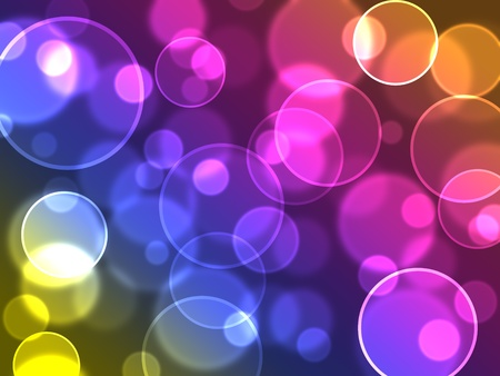 Abstract colourful bubbles. Holiday soft background with color circles. photo