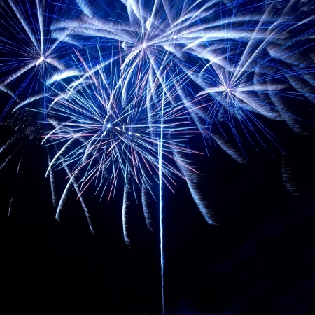 Colorful fireworks on the black sky background Stock Photo - 14655130