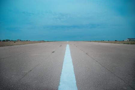 dark side: Empty highway- road with dark stormy clouds Stock Photo