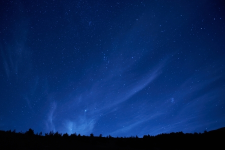 starry sky: Blue dark night sky with many stars. Space background