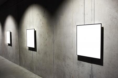 Leere wei?em Rahmen an der Wand Lizenzfreie Bilder