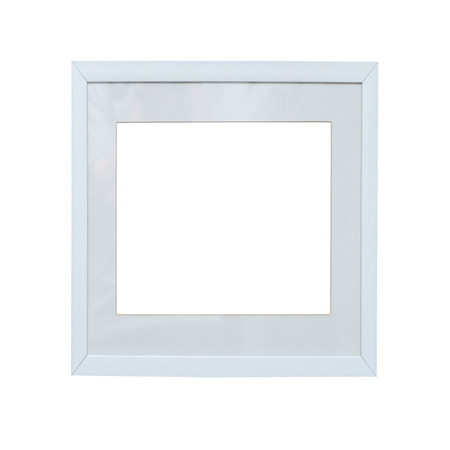 passe: Empty square blank isolated photo frame on white background Stock Photo