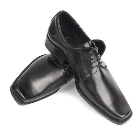 shoelaces: Pair of man Stock Photo