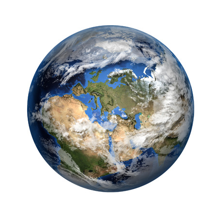 Isolated 3D image of planet Earth.  photo