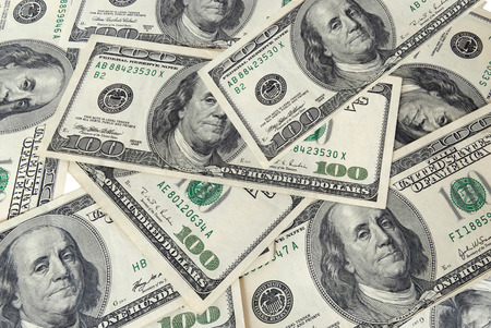A lot of dollars background photo