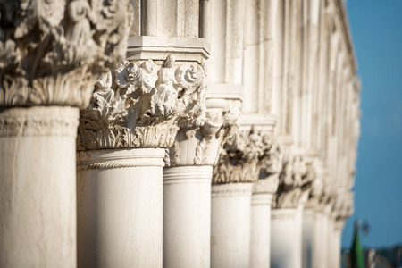 saint mark's square: Column Sculptures of Doges Palace, Saint Marks Square, Venice, Italy
