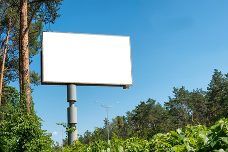 billboards: Blank billboard with empty space for advertising isolated on white Stock Photo
