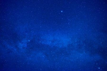 Blue dark night sky with many stars. Space milkyway background