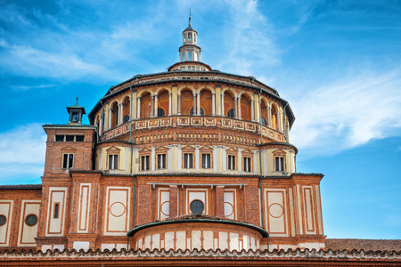 Church of Holy Mary of Grace- Chiesa di Santa Maria delle Grazie, 1497, Milan, Italy, home of the famous