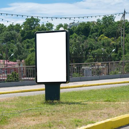 lightbox: Lightbox on the city street isolated on white