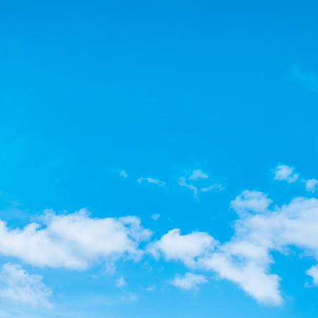 fluffy clouds: Beautiful blue sky and fluffy white clouds