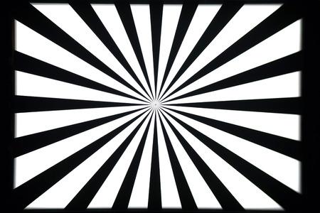 Zwart en wit camera en optische lens testbeeld
