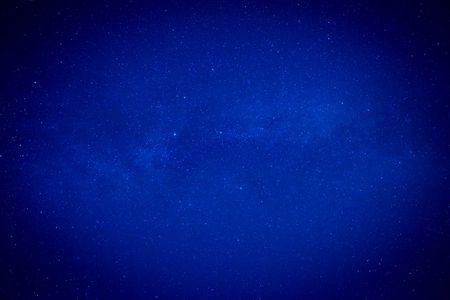 Blue dark night sky with many stars. Space milkyway background