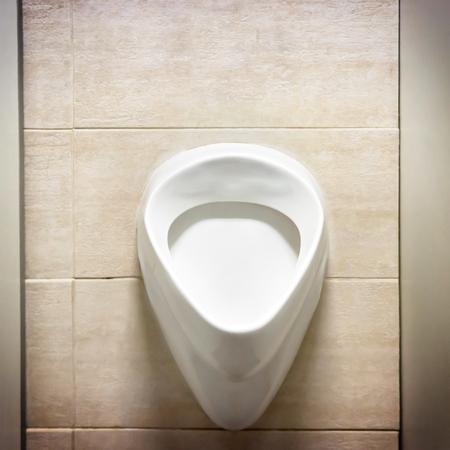 gent's: White men urinal in the public toilet