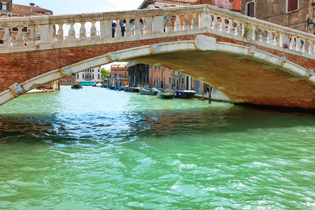 rialto: Rialto bridge on Grand Canal, Venice, Italy