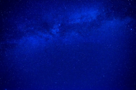 blue sky: Night dark blue sky with many stars and milky way galaxy