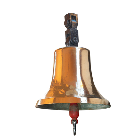 Ships bell from brass isolated on white background Imagens - 90956671