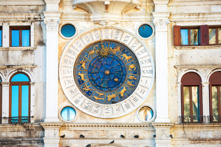 Clock on St Mark's Clocktower in Venice
