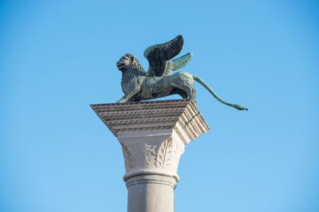 Lion statue on San Marko square in Venice, Italy
