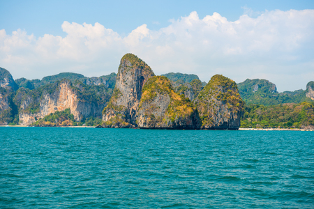 Beautiful sea landscape with turquoise water and tropical rock islands Reklamní fotografie