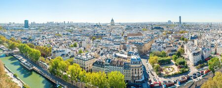 Panorama of city of Paris with cityscape and city view Stockfoto