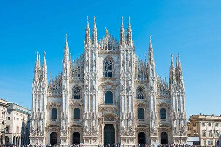 Duomo gothic cathedral on square in Milan, Italy