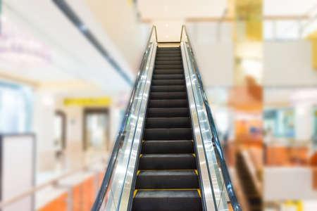 Escalator in business center or shopping mall enterior Reklamní fotografie