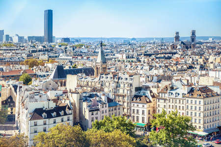 City of Paris cityscape with panoramic city view