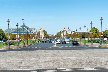Alexandre III bridge near Les Invalides in Paris, France