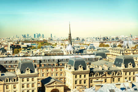 Paris cityscape with Eiffel tower and city view