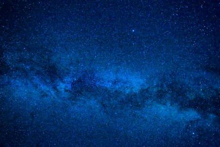 Dark blue night sky with many stars, cosmos milky way background