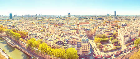 Panorama of city of Paris with cityscape and city view Banque d'images