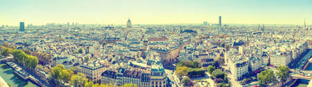 Panorama of Paris cityscape with Eilffel tower and city view Banque d'images