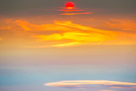 Sunset sky with sunset clouds on sunset sky