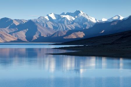 kashmir: Himalayan lake Moriri Tso, Ladakh, Jammu and Kashmir, India.
