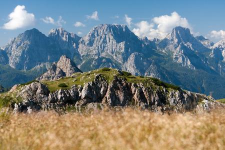 ferro: View of Monte Ferro from Passo Sesis, Carnic Alps, Dolomites, Italy
