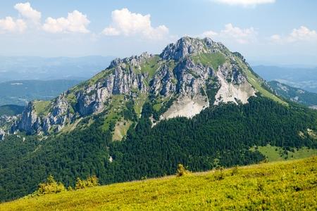 mala fatra: View of Mt. Velky Rozsutec from Stack, Mala Fatra, Western Carpathians, Slovakia.