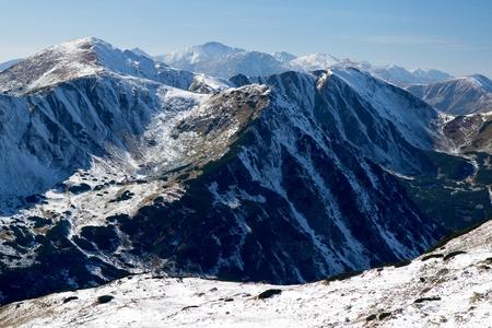 ridges: View of snowy ridges of the Western Tatras