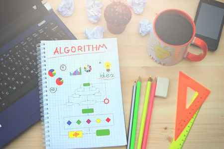 algorithms: The order of actions to achieve some of the results drawn in the notebook