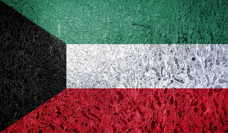 Abstract flag of Kuwait