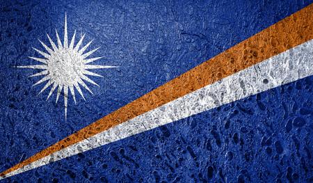 Abstract flag of Marshall islands