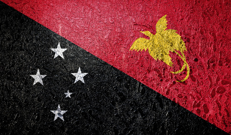 Abstract flag of Papua New Guinea Stock Photo