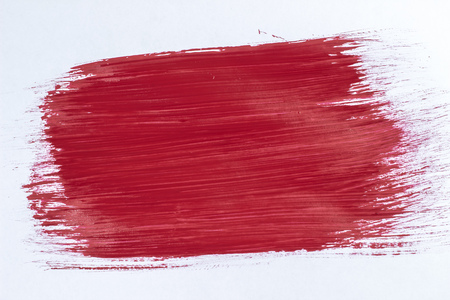 Plastered the sheet with a brush red paint