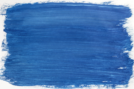 Plastered the sheet with a brush of blue gouache