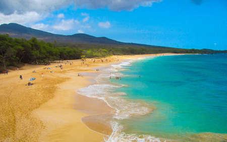 Big Beach, Maui, Hawaii Reklamní fotografie