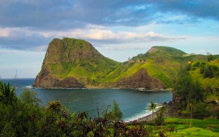 Kahakuloa 머리, 마우이, 하와이