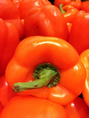 colour: Red pepper Stock Photo