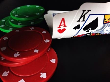texas hold'em: Texas holdem poker Stock Photo