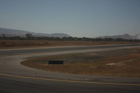 Landing and take-off runway at Mexico City International Airport